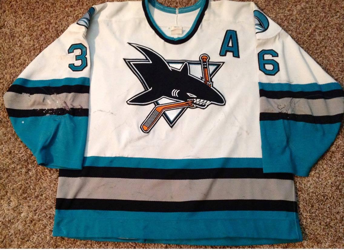 timeless design 81c52 5e9d9 What Game Used San Jose Sharks Jerseys Do You Own? | Page 5 ...